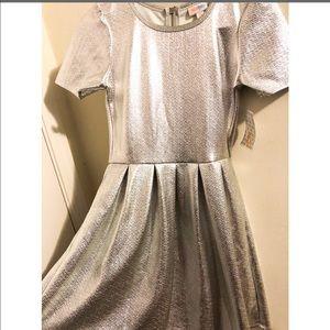 LulaRoe Silver Amelia Dress